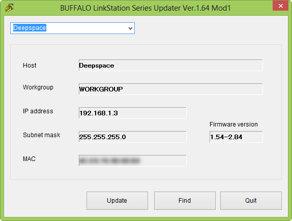 Buffalo Quad Pro – Updating to Shonk's Firmware v1 64 Mod1