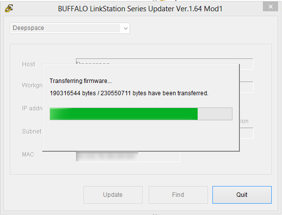 Buffalo Quad Pro – Updating to Shonk's Firmware v1 64 Mod1