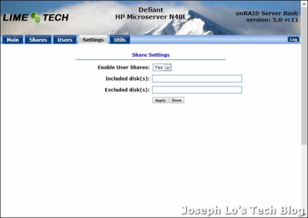 Yet Another NAS – HP Microserver N40L – unRAID setup | Joseph Lo's