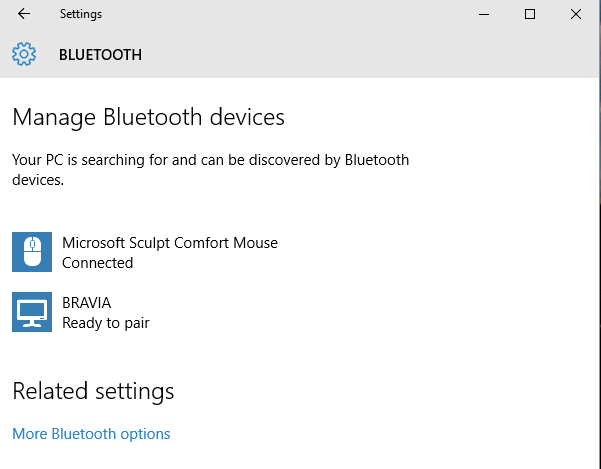 bluetooth mouse working