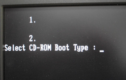 Select CD-ROM Boot Type