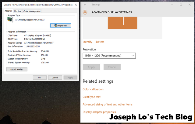 Windows 10 Display Setting   Joseph Lo's Tech Blog