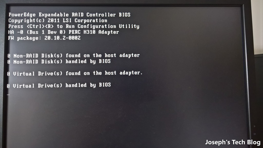 Not another article on flashing Dell H310 to IT mode